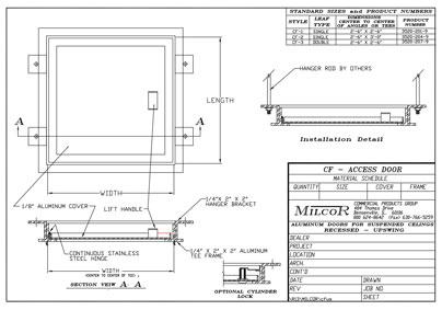 Milcor Style CF Data Sheet