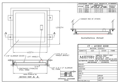 Milcor Style CT Data Sheet