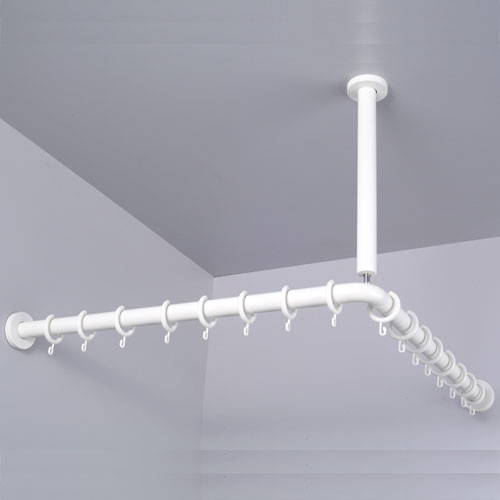 corner idea install curtain shower for rod hanging ideas pmcshop to