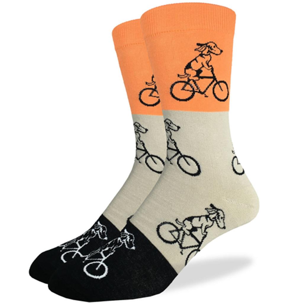 Orange and Beige Dogs on Bike Sock