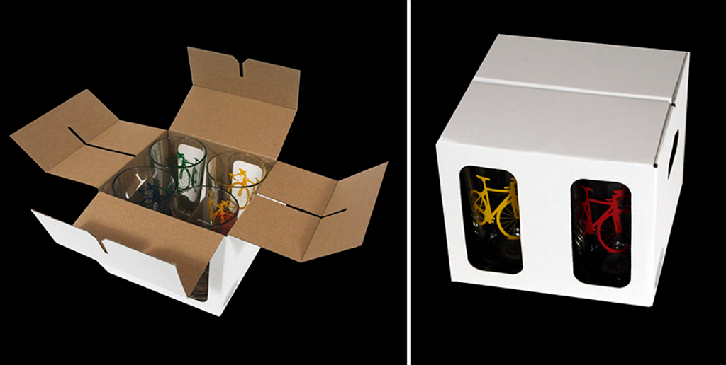 Gift Box packaging keeps glasses totally separated