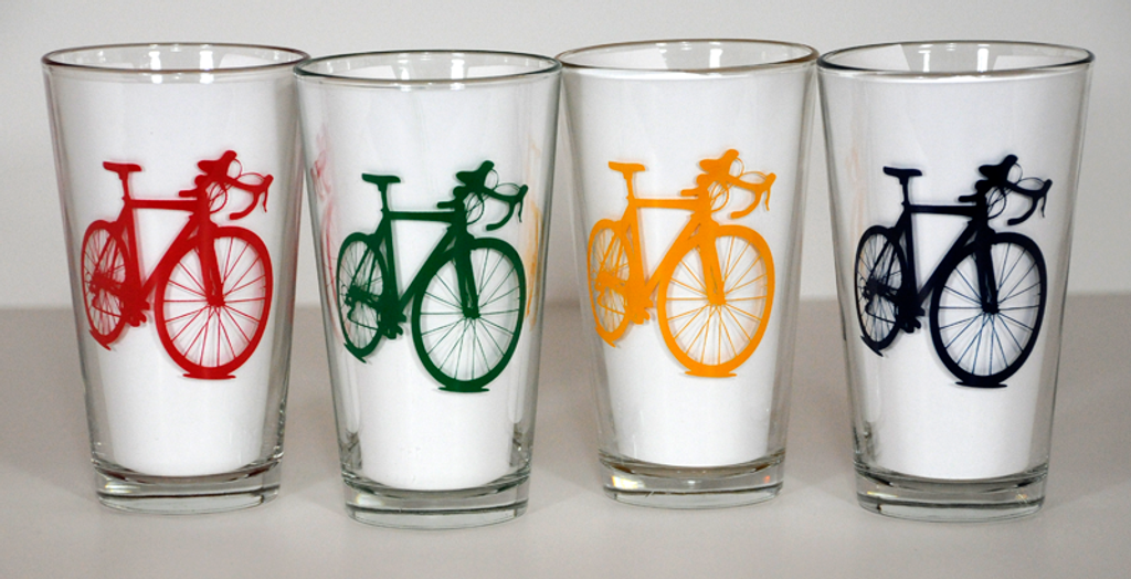 White inserts to show bike colors