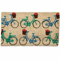 Multi Colored Bicycle Doormat