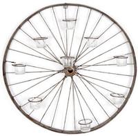 Votive Bicycle Wheel Wall Art