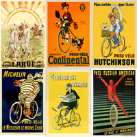 Tire Ad Vintage Poster Set