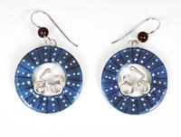 Bicycle Wheel Earrings - Blue