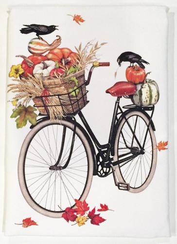 Autumn Bicycle Flour Sack Towel