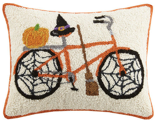 Spider Web Halloween Bicycle Hook Pillow