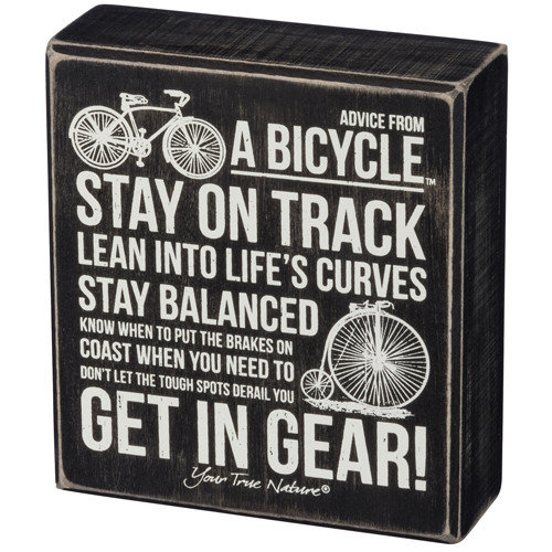 Advice from a Bicycle Sign