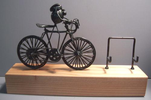Original flea sculpture of a flea riding a road bike road bicycle original flea business card holder colourmoves