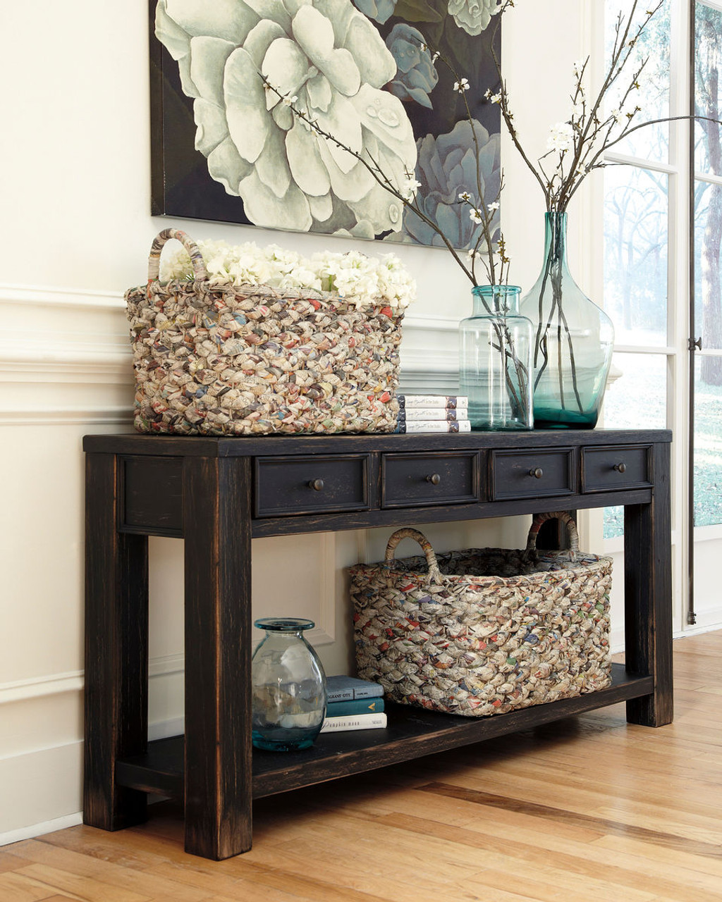 The Gavelston Black Sofa Table Available At Barnett And Swann In