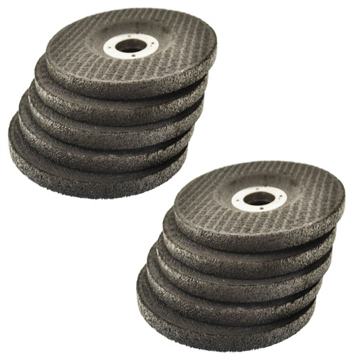 """4 1/2"""" Depressed / Dished Centre Metal Grinding Disc Stainless Steel AT850_10Pk"""