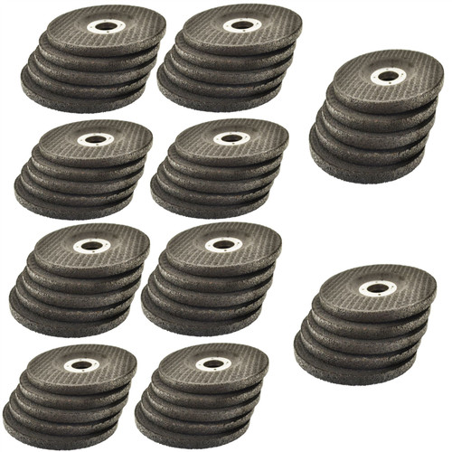 """4 1/2"""" Depressed / Dished Centre Metal Grinding Disc Stainless Steel AT850_50Pk"""