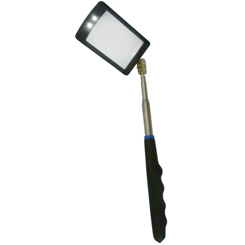 Telescopic Inspection Mirror 2 LED Bright Light Torch Extending By BERGEN AT913
