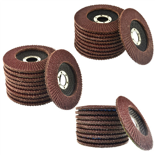 "30 x Flap Discs 40, 60 & 80 Grit Angle Grinder 4.5"" 115mm Flat Sanding Grinding"
