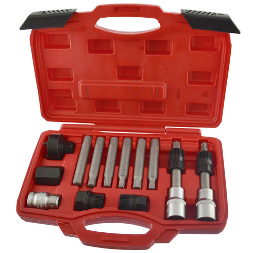 """Alternator tool set / repair / removal / pulley BOSCH 13pc kit 1/2"""" Drive AN032"""