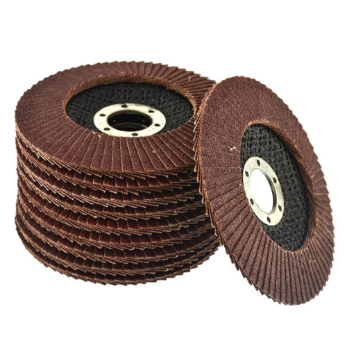 "10 x Flap Discs 80 Grit Angle Grinder 4.5"" (115mm) Flat Sanding Grinding AU014"