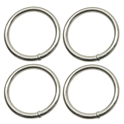 5mm x 40mm Steel Round O Rings Welded Zinc Plated 4 PACK DK38