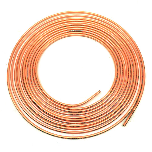 Brake Pipe Tube Copper for making Brake & Hydraulic Clutch Lines 7.62m Coil FL25