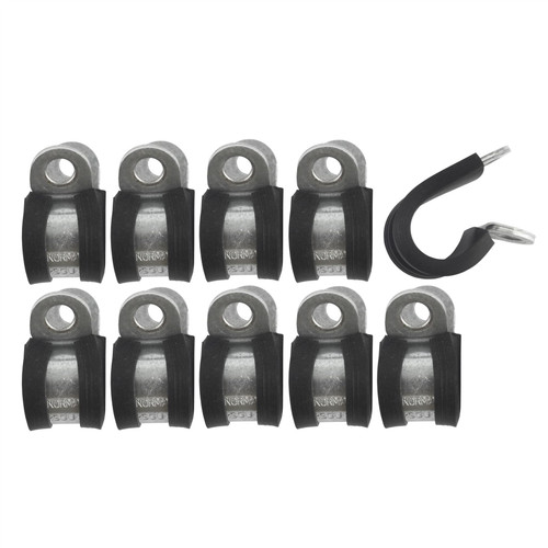 """Brake Pipe Clips Rubber Lined P Clips 7/16"""" (11.1mm) lines Pack of 10 FL35"""