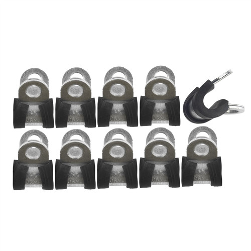 """Brake Pipe Clips Rubber Lined P Clips 1/4"""" (6.4mm) lines Pack of 10 FL36"""