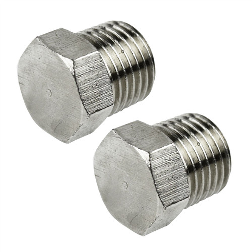 "3/8"" BSP Hex Blanking Plug Port Air Line Compressor Fitting 2 PACK FT076"