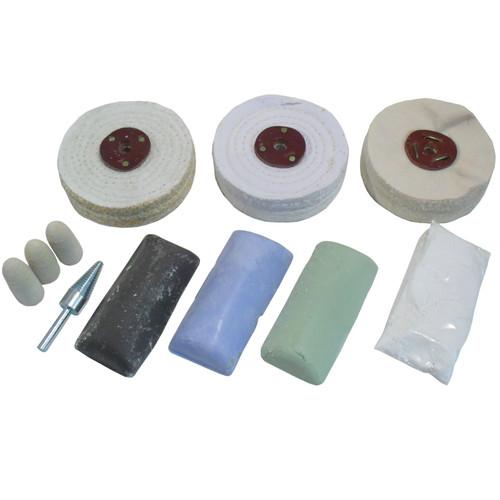 "Standard Metal Polishing Kit Coarse / Medium and Fine 4"" Mops 11pc Kit POL01"