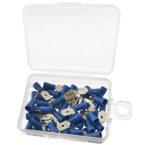4mm Electrical Wire Blue Spade Male Terminal Crimps Connectors 40pc AST38