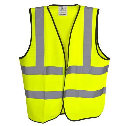 Hi-Vis Viz Vest Waistcoat Class 2 L 108-116cm Safety Jacket Fluorescent SIL267