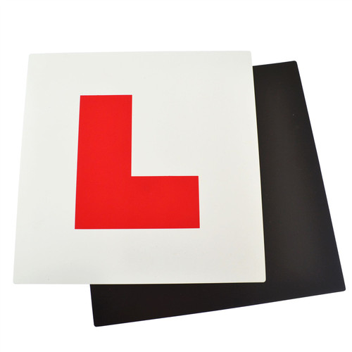 Magnetic L Plates Learner New Driver Training Exterior Car Secure & Safe SIL327