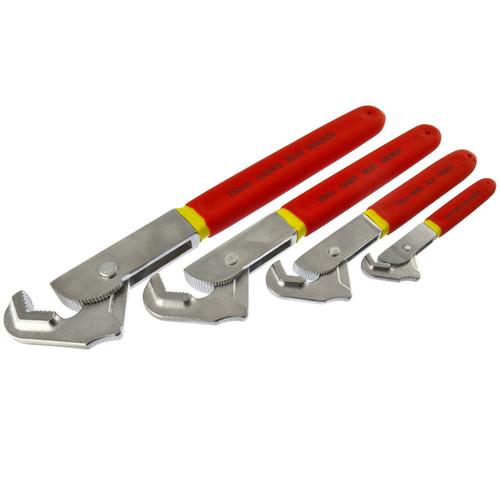 """Super Wrench / Adjustable Spanner Set 4"""" 6"""" 8"""" 10"""" Full Set"""