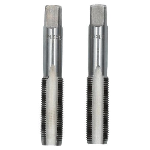 M18 x 1.5mm Metric Tap Set, Tungsten Steel, Taper and Plug Thread Cutter TD001