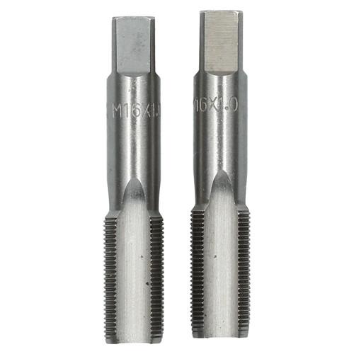 M16 x 1mm Metric Tap Set, Tungsten Steel, Taper and Plug Thread Cutter TD004