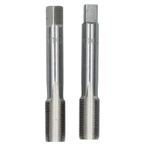 M11 x 0.75mm Metric Tap Set, Tungsten Steel, Taper and Plug Thread Cutter TD017