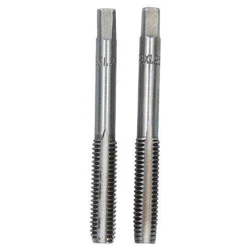 M8 x 1.25mm Metric Tap Set, Tungsten Steel, Taper and Plug Thread Cutter TD025