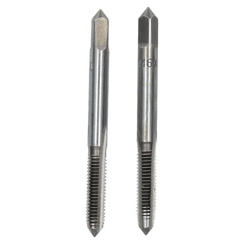 M6 x 1mm Metric Tap Set, Tungsten Steel, Taper and Plug Thread Cutter TD030