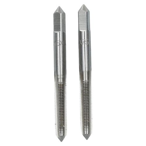 M6 x 0.75mm Metric Tap Set, Tungsten Steel, Taper and Plug Thread Cutter TD031