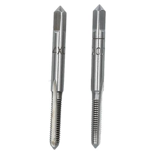M4 x 0.7mm Metric Tap Set, Tungsten Steel, Taper and Plug Thread Cutter TD033