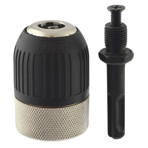 "13mm Twist 1/2"" x 20 UNF Keyless Drill Chuck With SDS Adapter Cordless AT038"