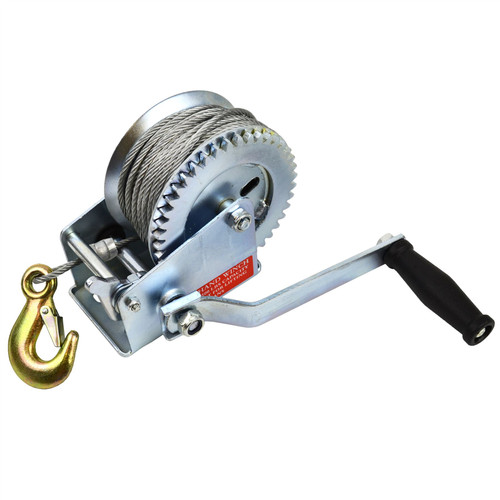 Hand Winch for Boat/Car Trailer 1200lb Complete with 20m Cable TE141