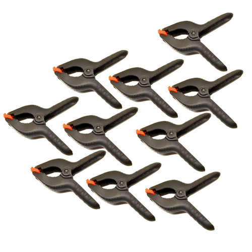 "6 - 1/2"" Plastic Market Stall Clips / Clamps Grips Holder 10 Pack TE223"