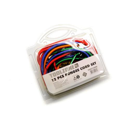 12pc Bungee Cord Shock Rope Elastic Strap Set Hook Lash Luggage Mixed Size TE241