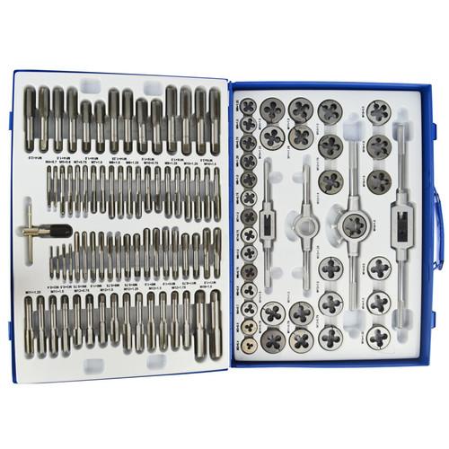 Metric Tap and Die Set 110pc Thread Repair M2 - M18 Taper Plug TE342
