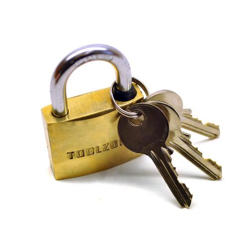 40mm Heavy Duty Brass Padlock Lock Shackle Key TE364