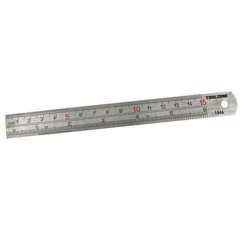 "Stainless steel ruler 6"" / 150mm / straight edge / rule / measuring TE433"