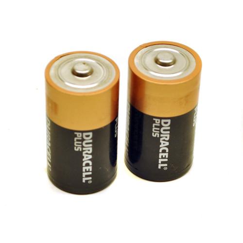 2 x D Duracell plus batteries / battery ultra alkaline long lasting  TE467