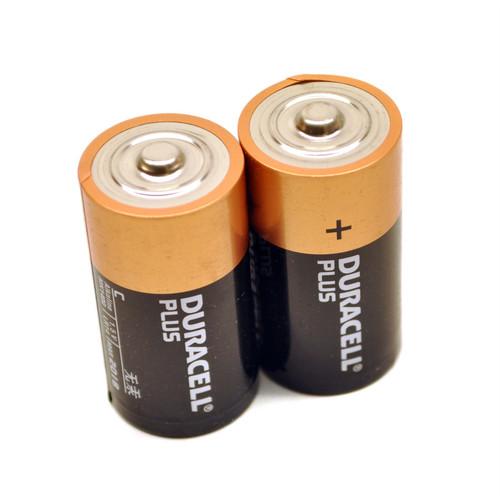 2 x C Duracell plus batteries / battery ultra alkaline long lasting  TE468