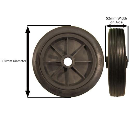 Plastic Replacement Jockey Wheel 170mm TR017
