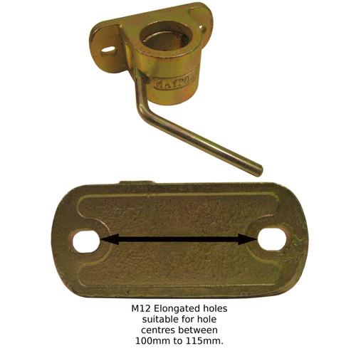 48mm Jockey Wheel / Prop Stand Clamp Heavy Duty Cast TR022