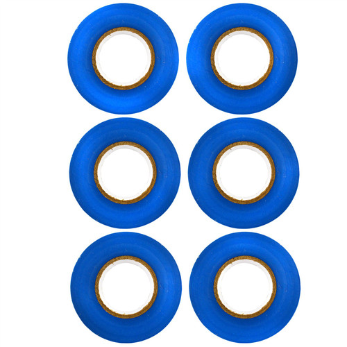 BLUE Electrical Insulation Tape 19mm Wide x 20 Metres Long (Pack of 6) AT115